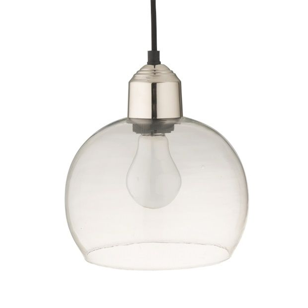 entree bahne hanglamp glas 23 x 16 cm transparant afbeelding 1