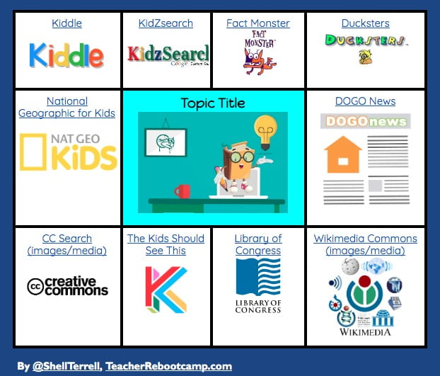 Top K12 Research Websites Search Engines Tech Learning Research Websites Student Kids Journal