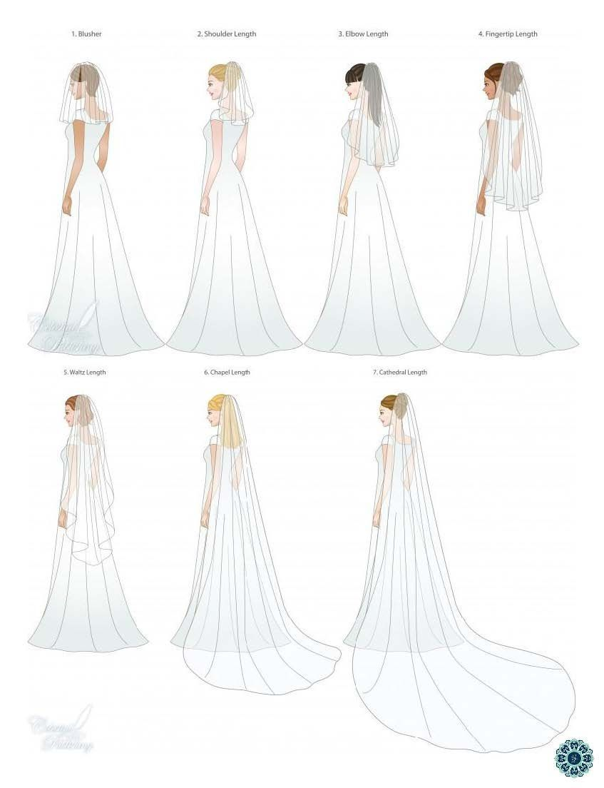 I love the long veil looki would choose chapel or cathedral length