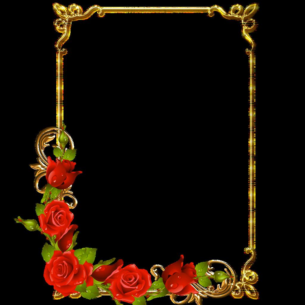 frame rose Clip art frames borders, Flower