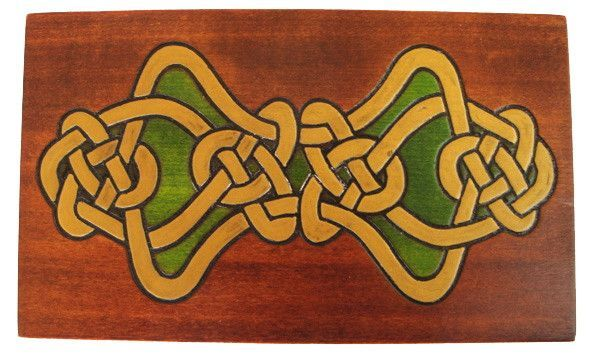 """Eternal Life"" Wooden Celtic Polish Secret Box (Sliding Front Panel)"