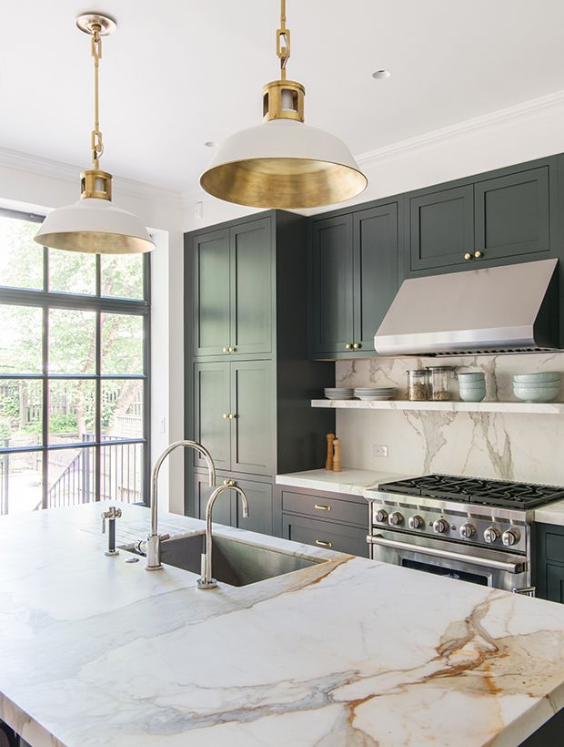 Bored Of White Kitchens Discover The Cabinet Color Trending Now Kitchen Interior Kitchen Inspirations Kitchen Design