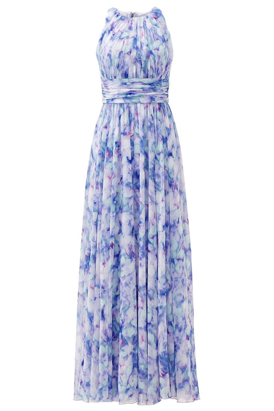 Plus size wedding dress rental  Nice Awesome Badgley Mischka Blue Womenus Size  Floral Print