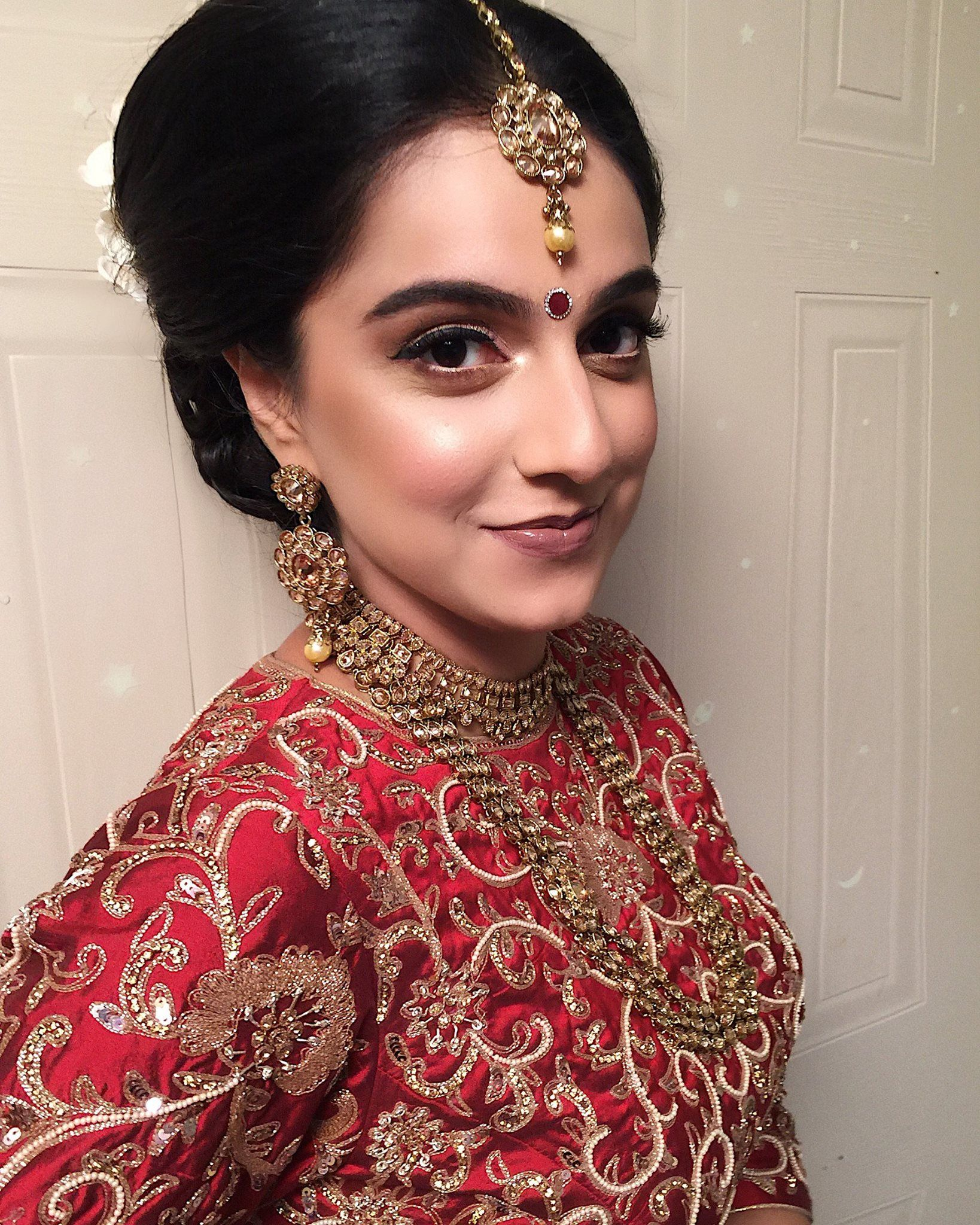 indian bridal makeup, indian bridal hair, bridal makeup
