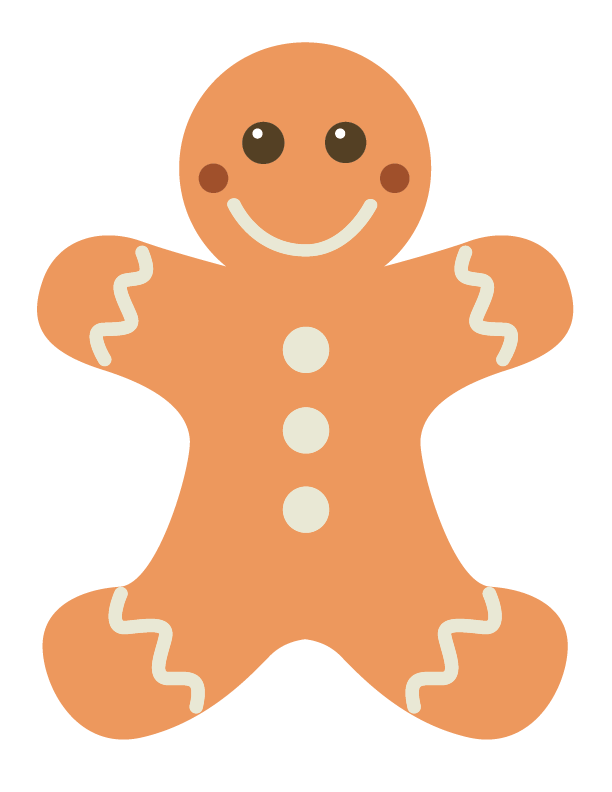Gingerbread Man Templates | Gingerbread man template, Gingerbread ...