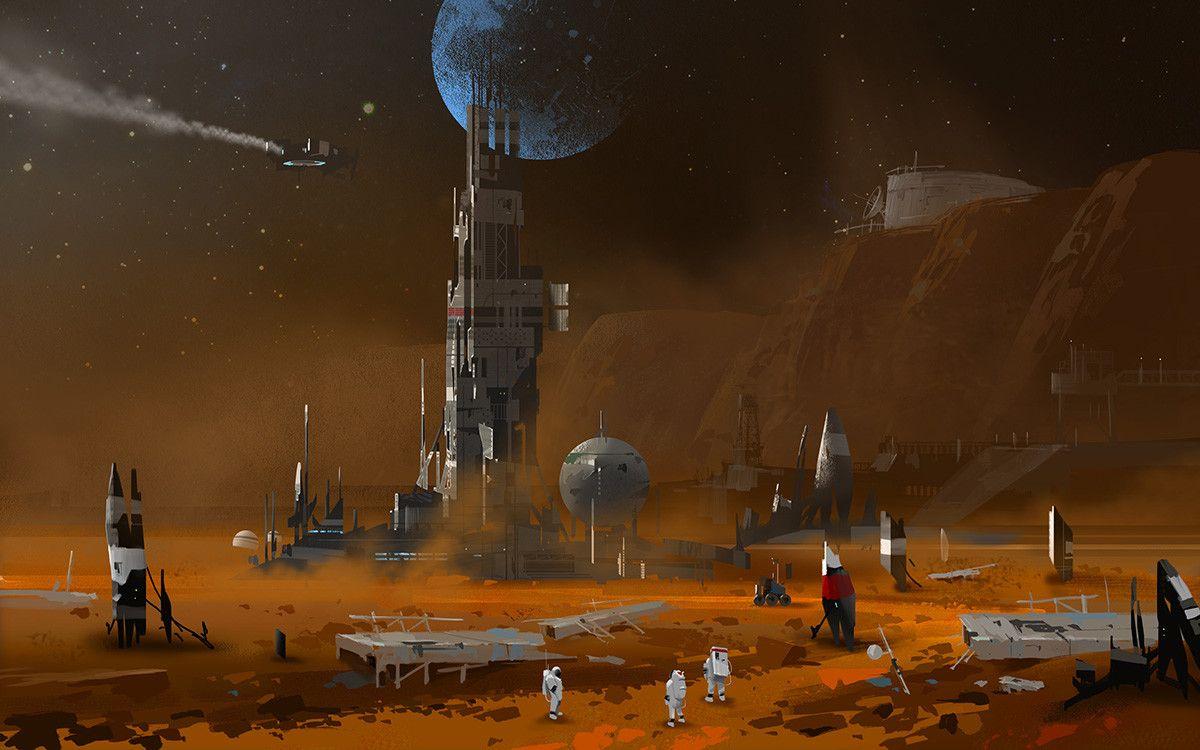 Mars, Lee b on ArtStation at https://www.artstation.com/artwork/o0gom