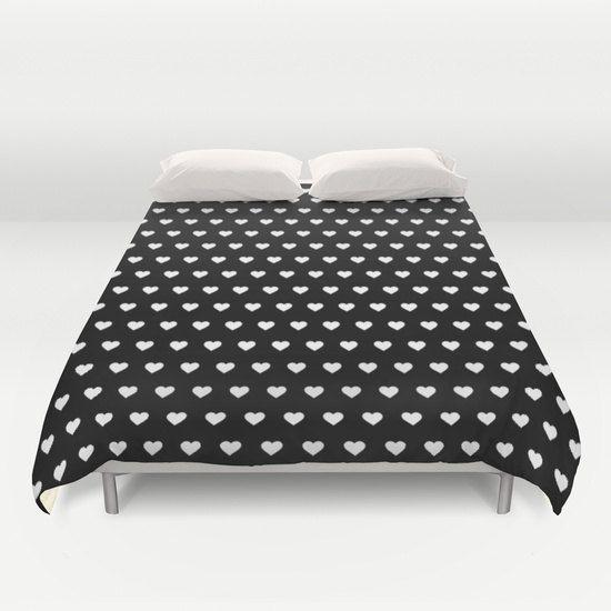 3 Options White Black Hearts Pattern Duvet Cover Geometric Double Duvet King Duvet Cover Black Wh Duvet Cover Pattern Queen Size Duvet Covers Duvet Covers