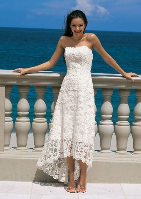 Informal Beach Wedding Dress Photos