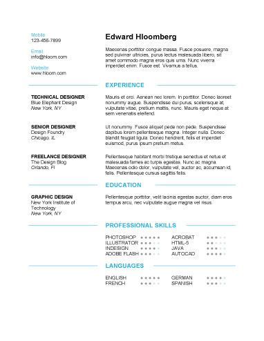 Discreetly Modern - Free Resume Template by Hloom Download - Example Of A Functional Resume