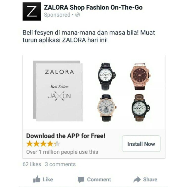 Zalora Facebook Mobile App App Mobile App