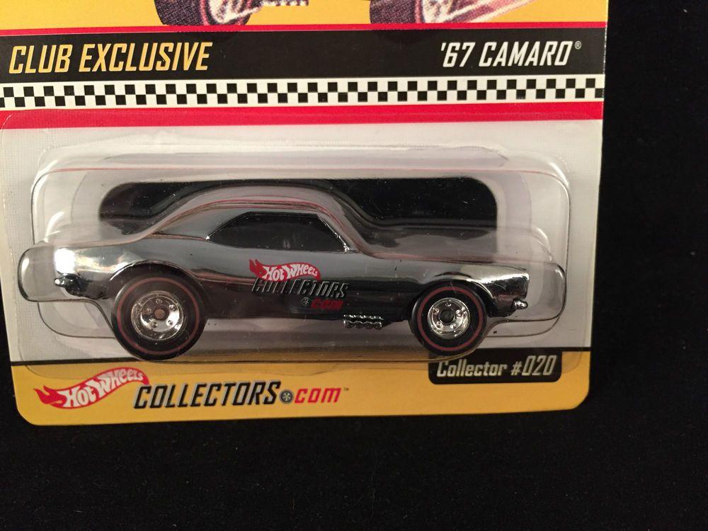 2002 Hot Wheels Redline Club Rlc 67 Camaro Chrome Black Stripe