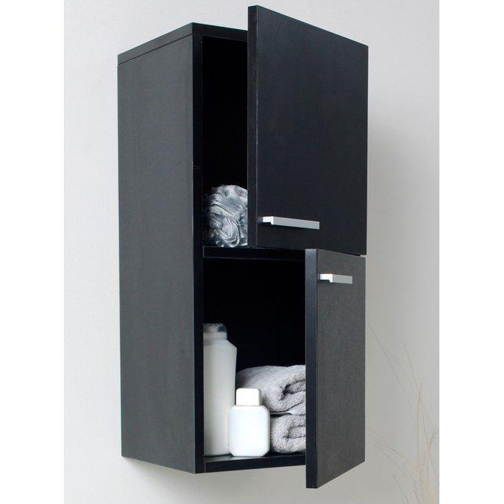 Fresca Fst8091bw 27 Wall Mounted Bathroom Linen Cabinet In Black