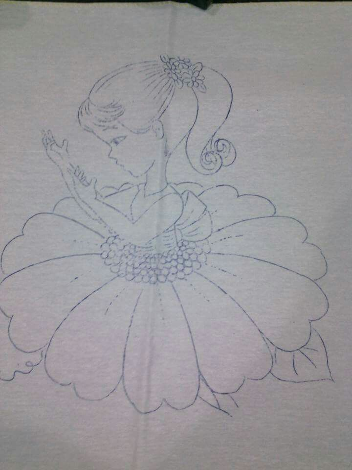 Nina Margarita Dibujos En Tela Pintura En Tela Flores Pintar En Tela
