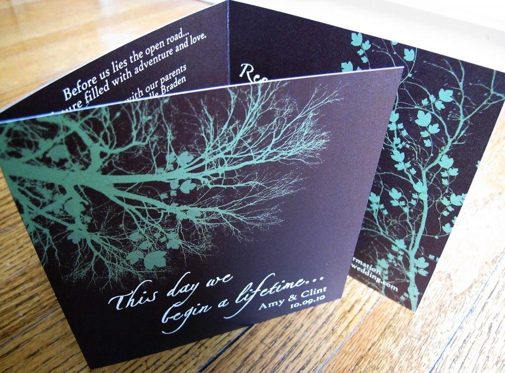 tri fold invitations