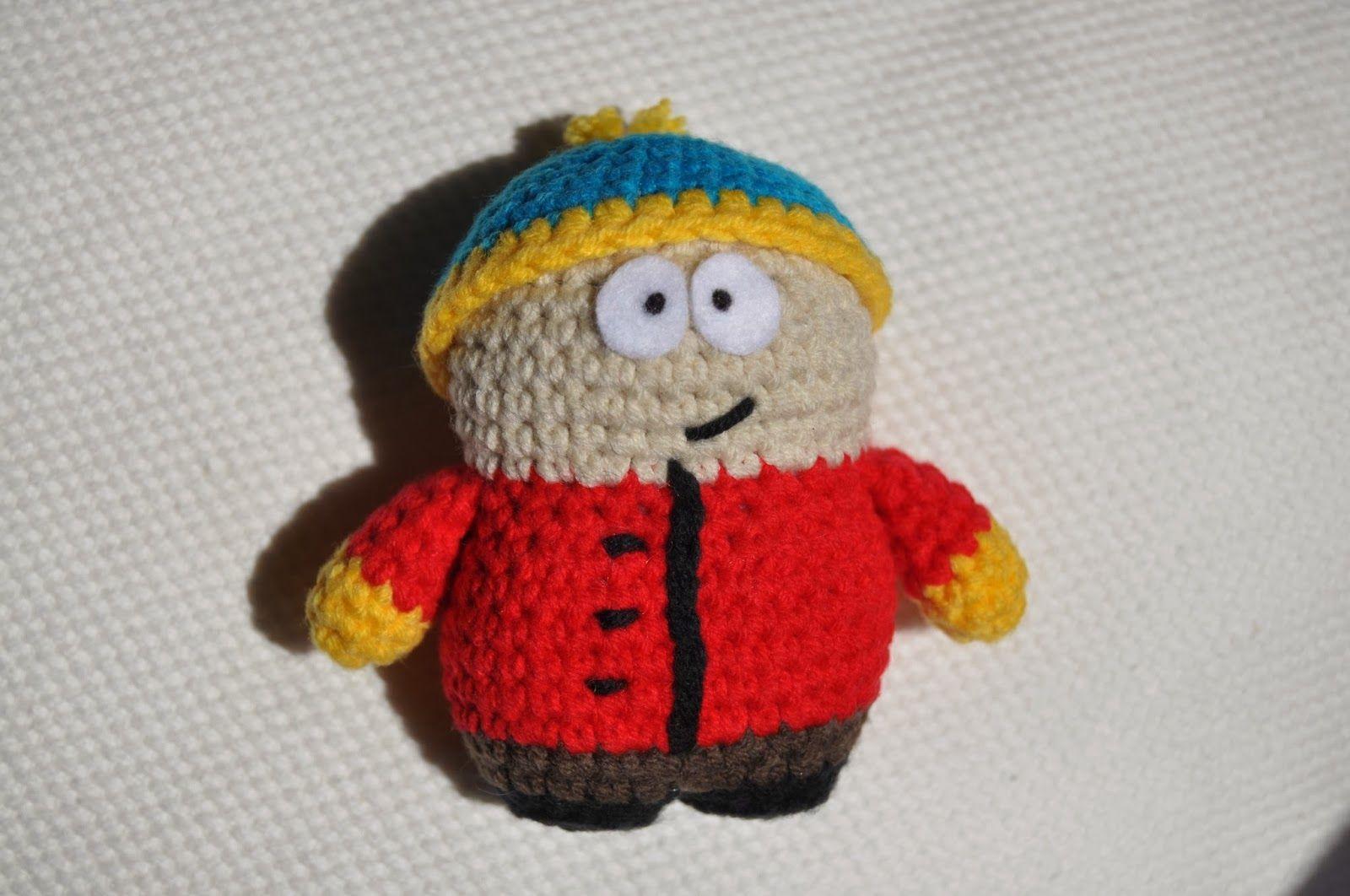 Amigurumi Cartman de South Park Patrón Gratis en Español : http://lavaquitadelanita.blogspot.com.es/2014/02/cartman-de-south-park-patron.html?m=1