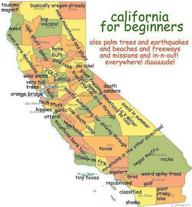 Map Of California Funny.Pretty Funny And Accurate Map Of California Fun Ways To Use Maps