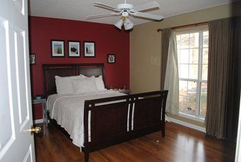 Red Accent Wall Bedroom Guest Bedroom Decor Thoughts Project - Deep red accent wall