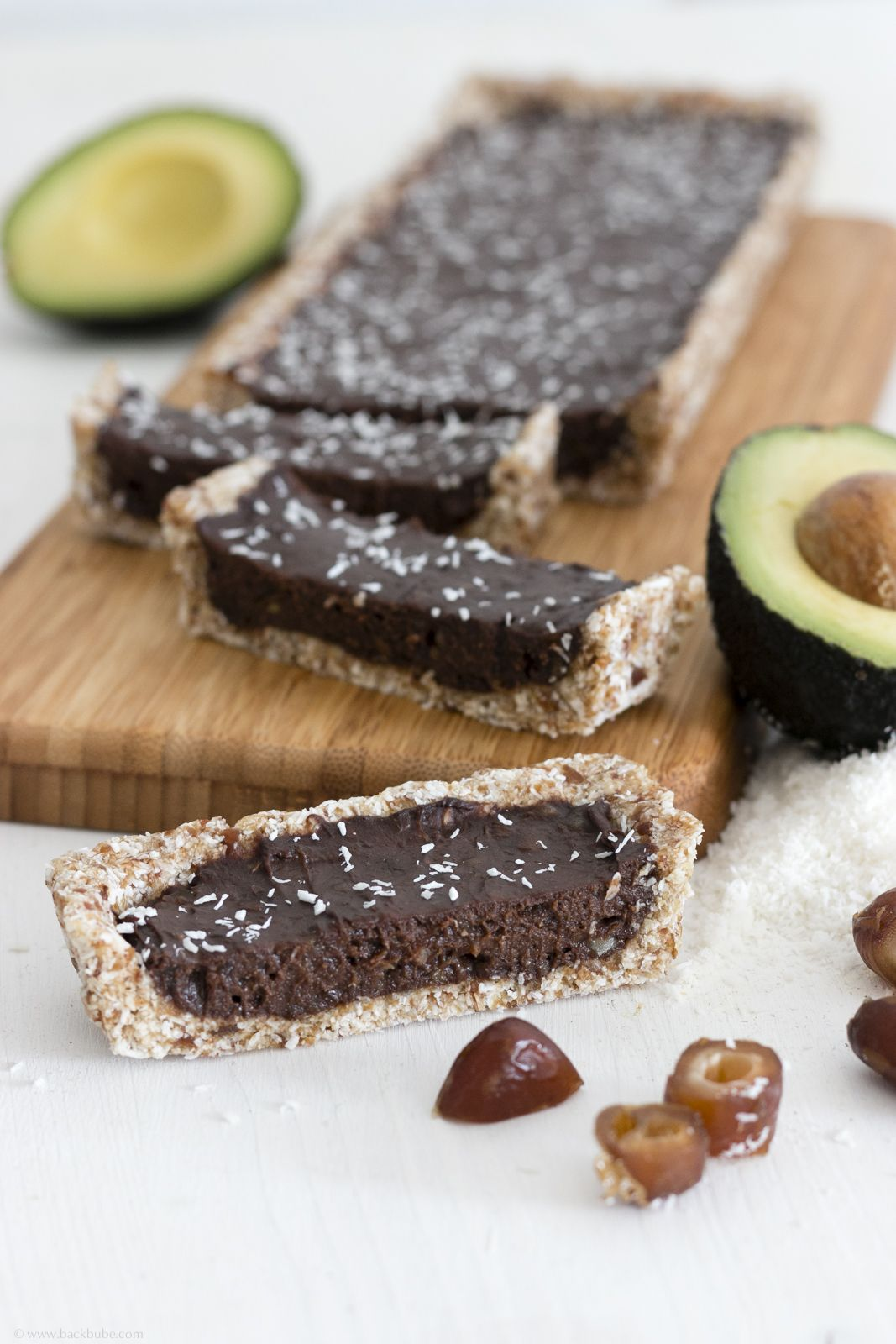 Vegane Schokoladen Avocado Tarte Glutenfrei No Bake Rezept