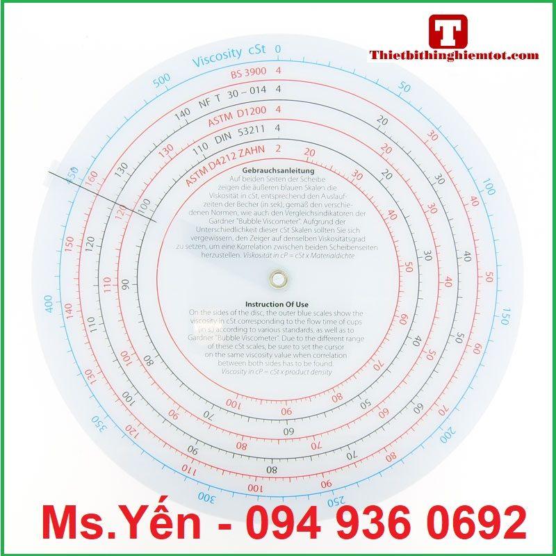 Bảng tính độ nhớt VF2053 hãng TQC (Viscosity Calculator