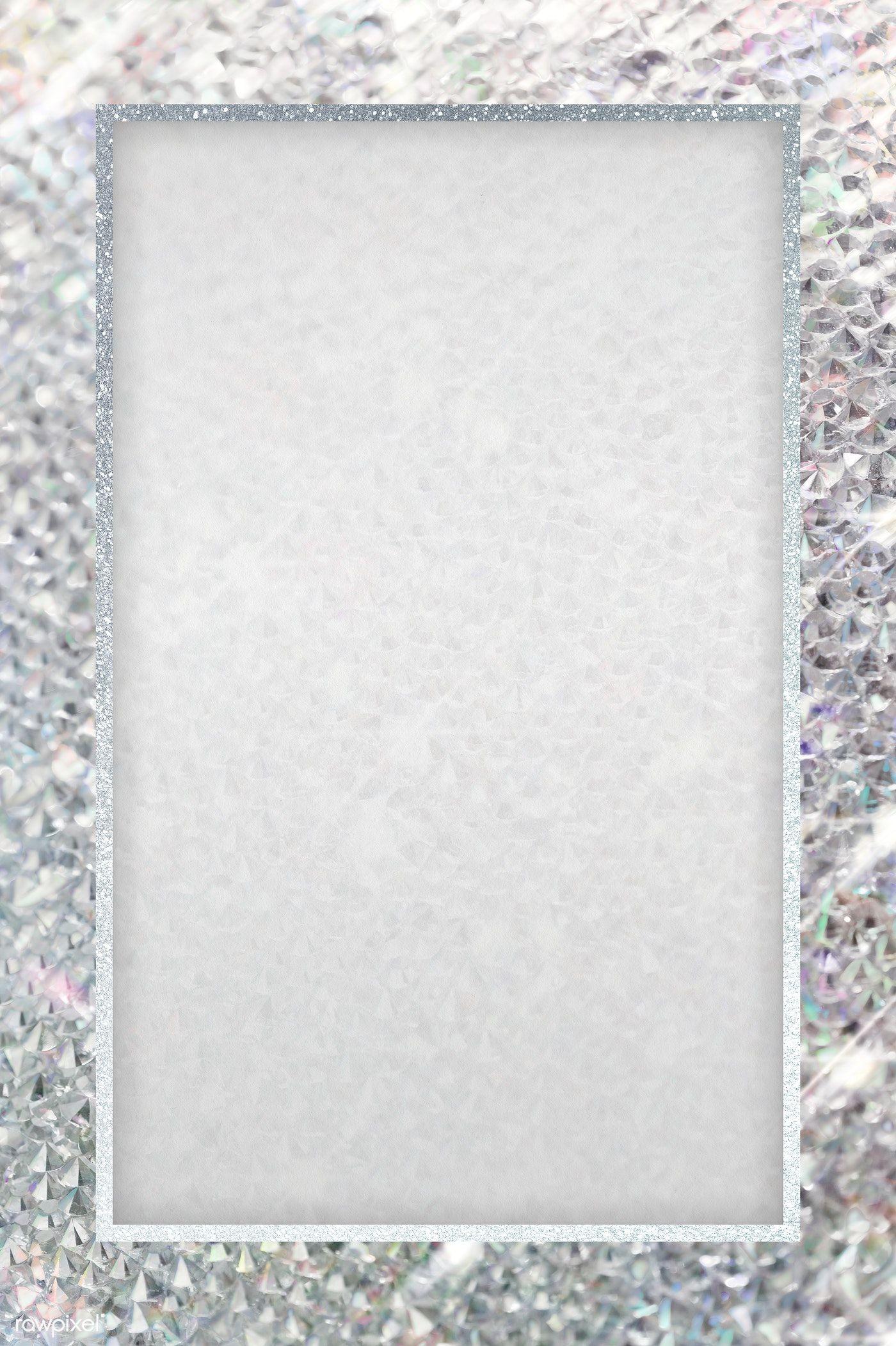 Download Premium Png Of Silver Glittery Rectangle Frame Transparent Png Frame Black Texture Background Gold Frame