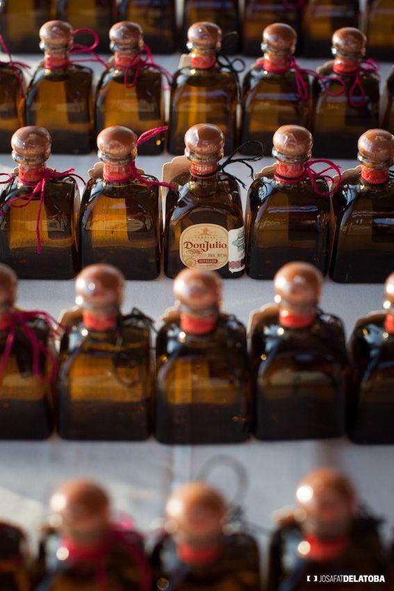 Mini tequila bottles make great favors