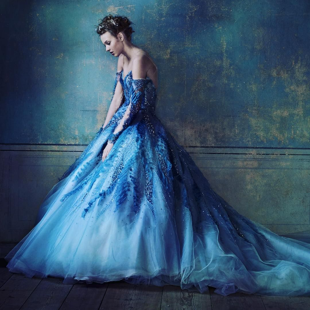 My fantasy winter wedding begins with this divine beaded tulle and ...