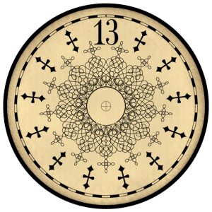 Clip Art 13 hour clock face by Jackson Manor. This is a