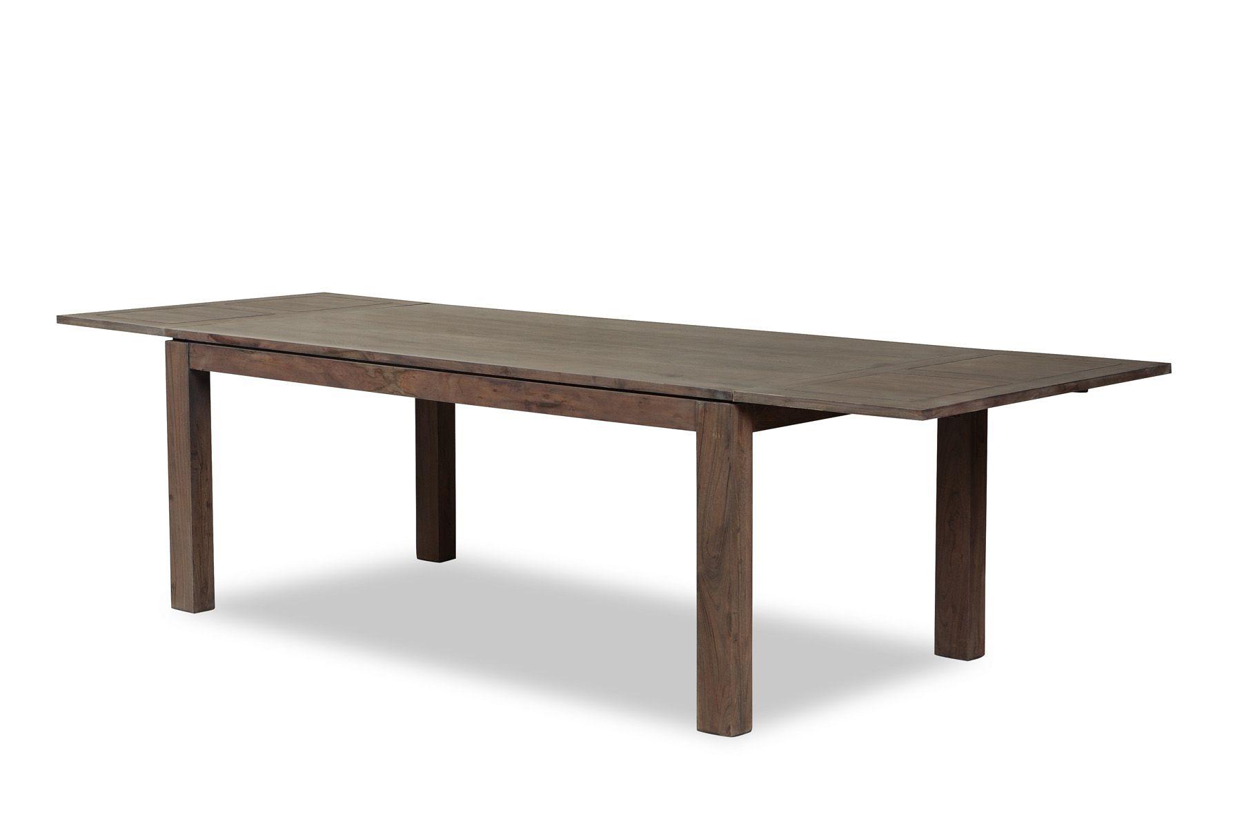 Table Repas Extensible 160 260cm Boreal Acacia Grise Table Repas