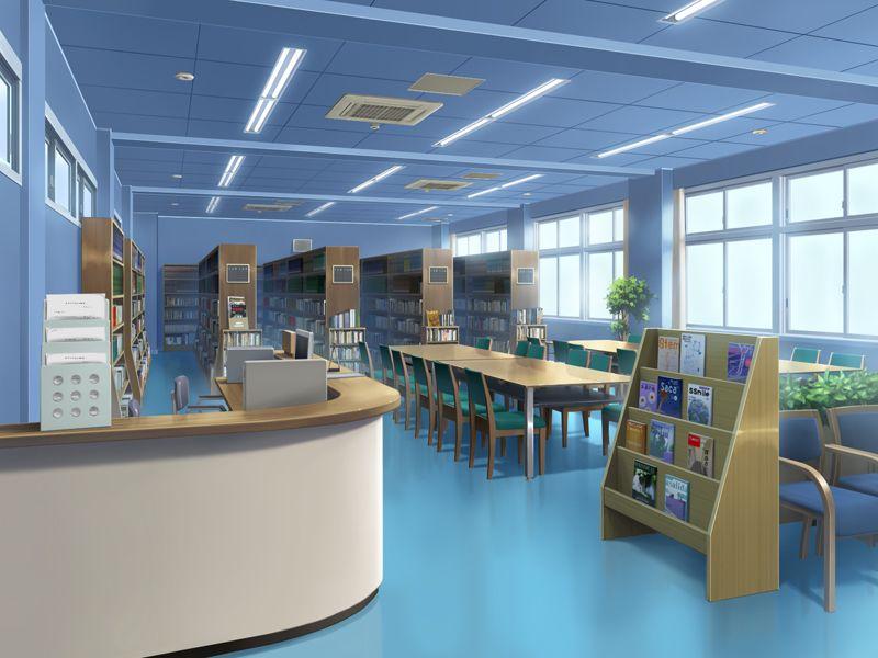 フリー素材 背景 学校図書室 図書室 フリー素材 背景 学校