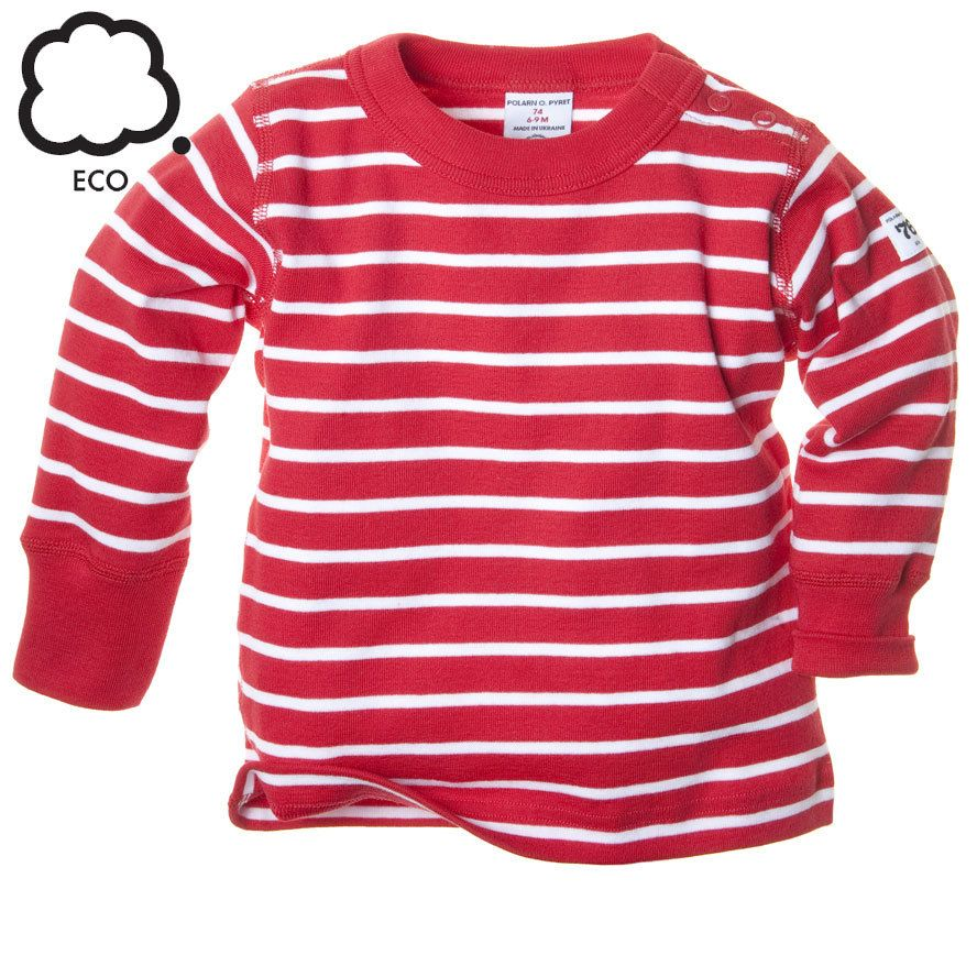 75bf9a19012a9 Polarn O. Pyret Classic Striped Kids Top. Stripy kids top. Red breton striped  kids clothes.