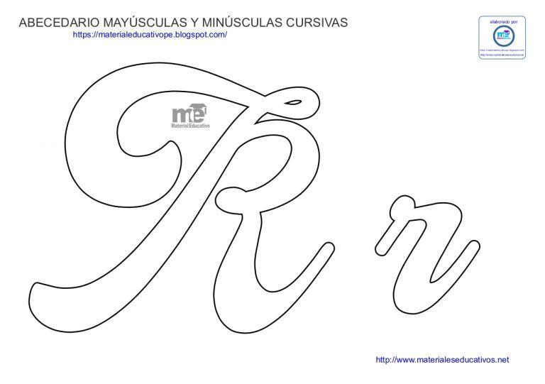 Moldes De Letras Cursivas Mayusculas Y Minusculas Em 2020 Letras