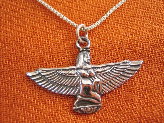 Charming authentic egyptian sterling silver pendant necklace chain charming authentic egyptian sterling silver pendant necklace chain queen isis wings aloadofball Choice Image