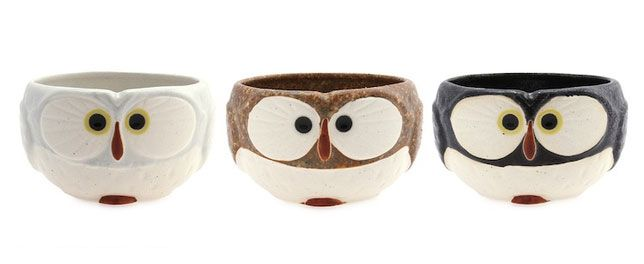 #Owl-faced #mugs for the night owl. #Tea sets are available from the manufacturer as well. #giftideas