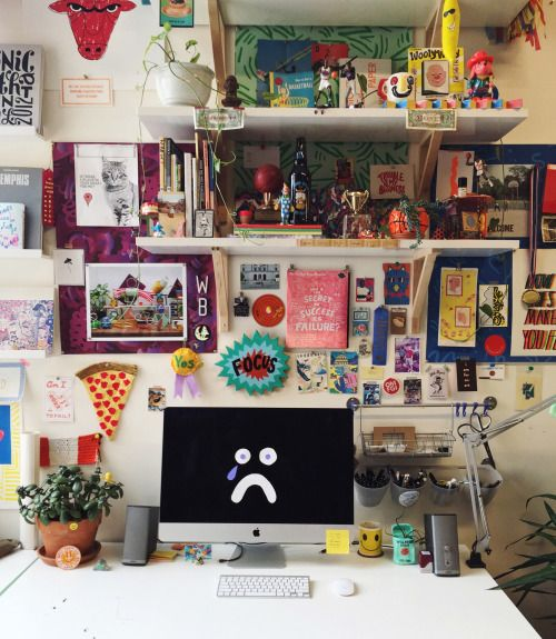 Faϟhion Fil†h | Art studio room, Indie room, Aesthetic ... on Room Decor Paredes Aesthetic id=55276