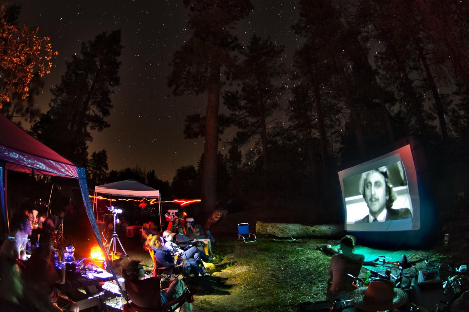 movie night camp trend camping pinterest camping