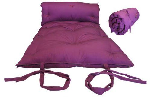 Brand New Burgundy Traditional Japanese Floor Futon Mattresses Foldable Cushion Mats Yoga Meditaion