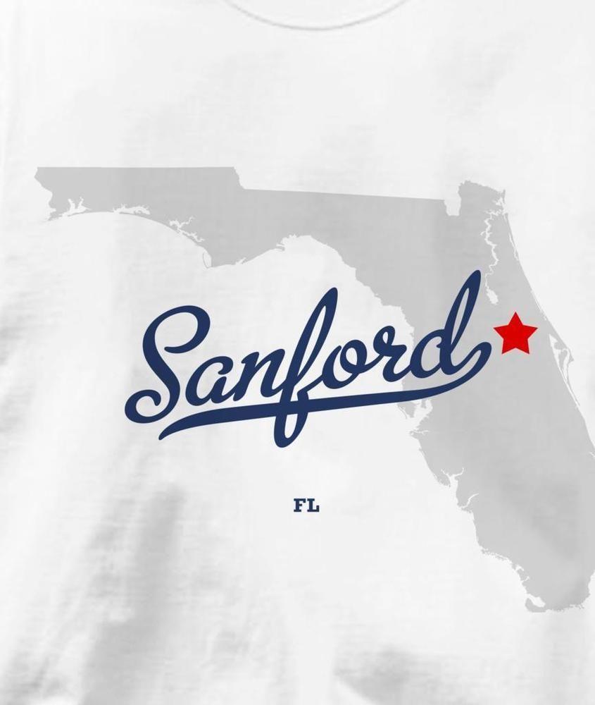 Map Of Sanford Florida.Sanford Florida Fl Map Souvenir T Shirt All Sizes Colors Fashion