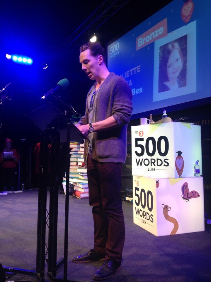 Ben Cumberbatch reading at the Hay Festival - Fri 30 May 2014