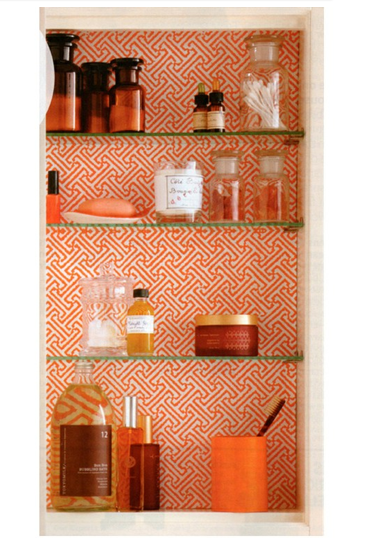 space inset between wall studs, papered with scrapbook paper and glass shelves complete it  (34) Tumblr