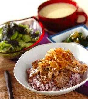 焼き肉ライス の献立 レシピ 料理 レシピ 献立 レシピ レシピ