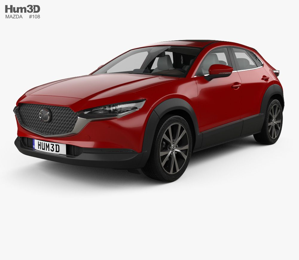 Mazda Cx 30 With Hq Interior 2020 3d Model In 2020 Mit Bildern