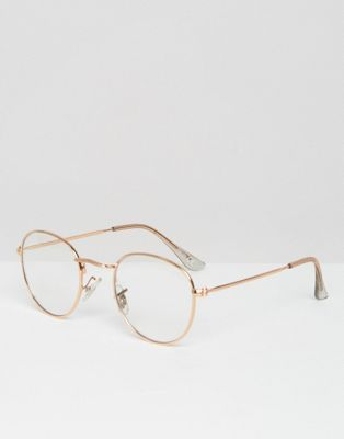 7d4352a940 Gafas redondas transparentes y metálicas Geeky de ASOS | M en 2019 ...