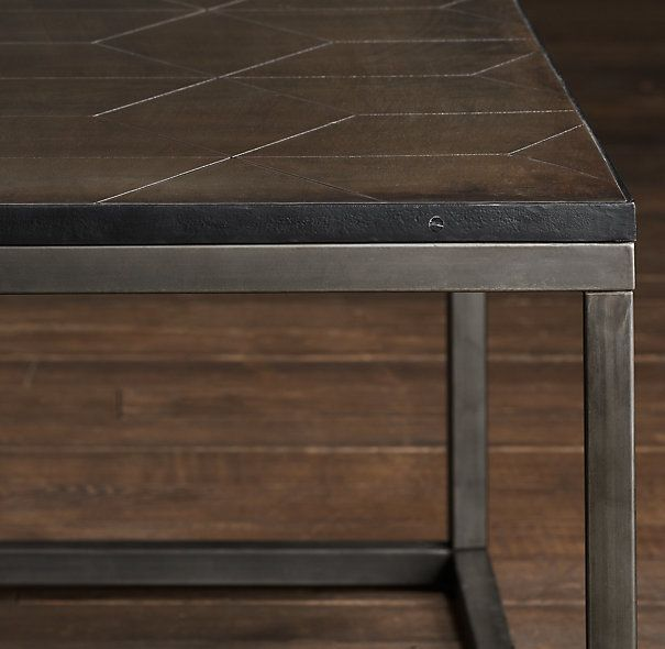 Parquet Steel Coffee Table: Metal Parquet Rectangular Coffee Table