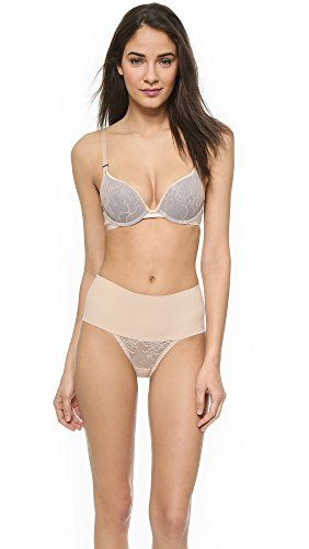55a01528ce SPANX Womens Pillow Cup Lace Push Up Plunge Bra Soft Nude 32B     For more  information