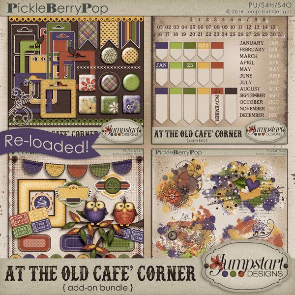 At the Old Cafe Corner {Re-Loaded Add-On Bundle} by Jumpstart Designs