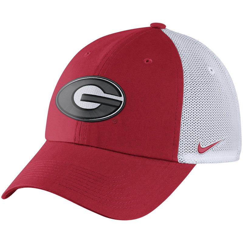 8c20baa1369 Georgia Bulldogs Nike Heritage 86 Trucker Adjustable Hat - Red ...