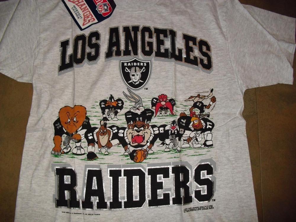 Los Angeles Raiders Shirt Vintage Large New Dead Stock Mint W Tag Looney Tunes Nfl Tshirt Raiders Shirt Vintage Large Shirts