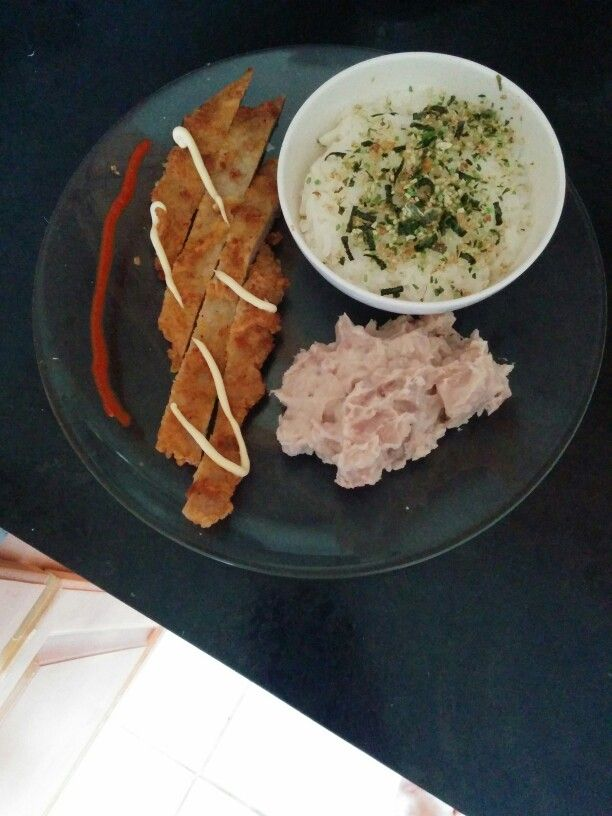 Pan Fried Pork Loin with Taro and Rice