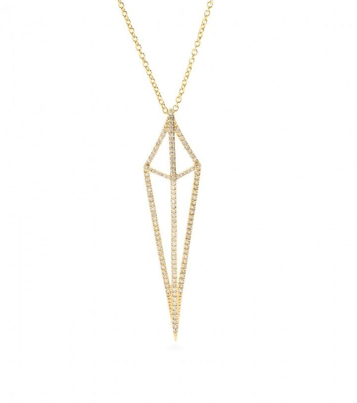 House of Waris LANTERN 18KT YELLOW GOLD NECKLACE WITH WHITE DIAMONDS on shopstyle.com