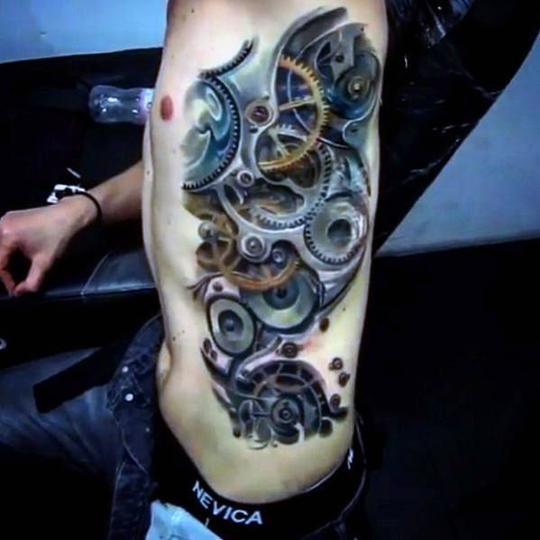 60 Great Tattoo Ideas For Men Extraordinary Masculine Designs Next Luxury Steampunk Tattoo Gear Tattoo Tattoos